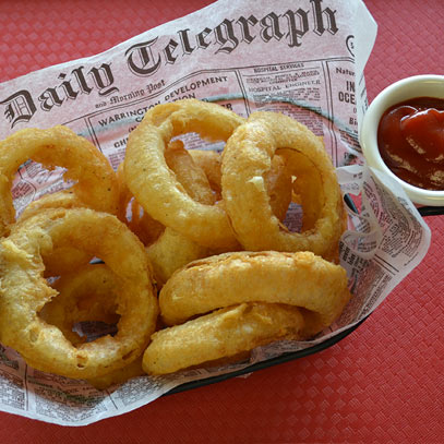 craft beer battered onion rings