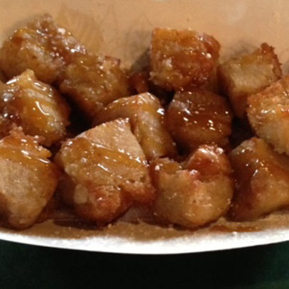 deep fried bread pudding