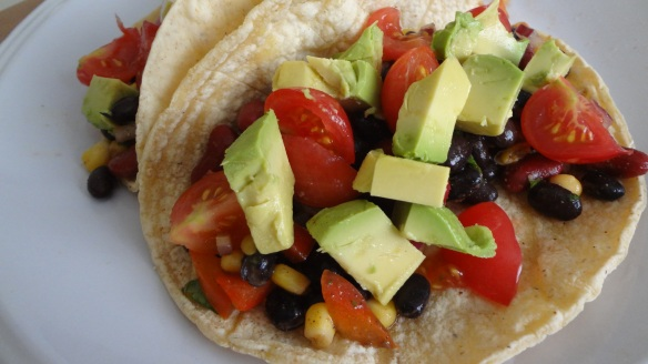 Summer Bean Salad Tacos - www.theculinarycapers.com