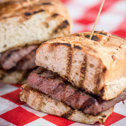 mancini's signature steak sandwich