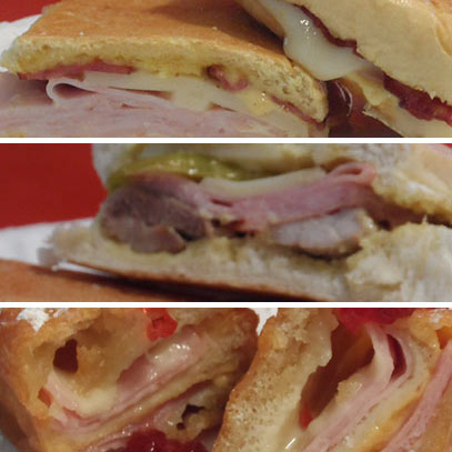 the sandwish stop - curry turkey bacon melt, pressed cuban sandwich, deep fried monte cristo