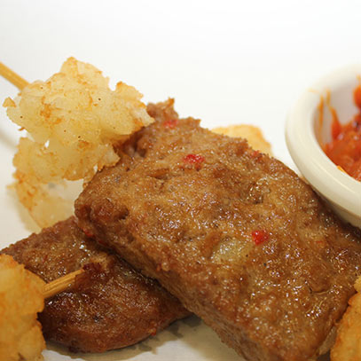 wine glazed deep fried meatloaf