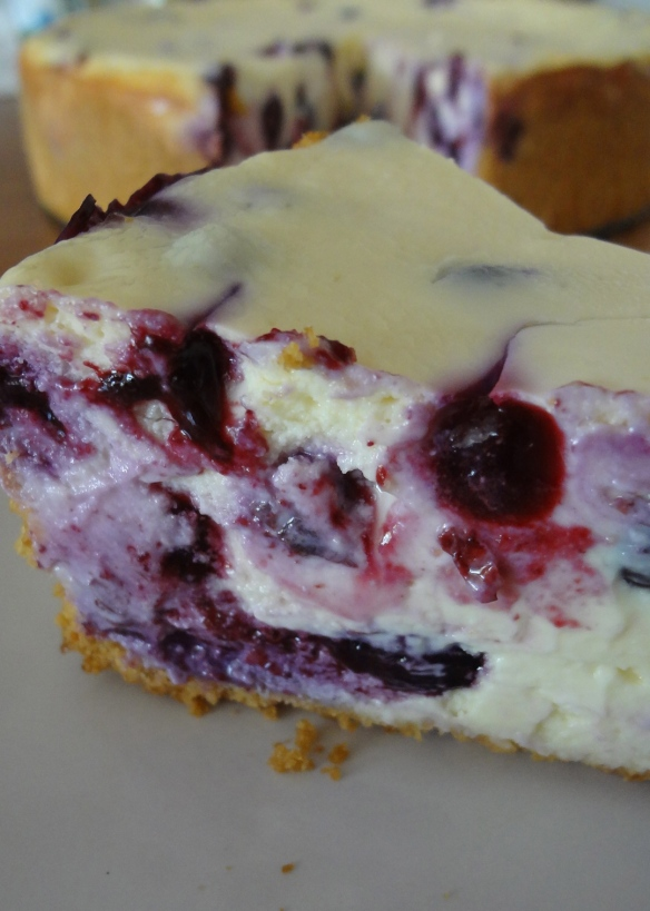 Blueberry cheesecake - www.theculinarycapers.com