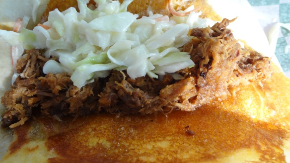 North Woods BBQ pork taco - MN state fair food review from www.theculinarycapers.com