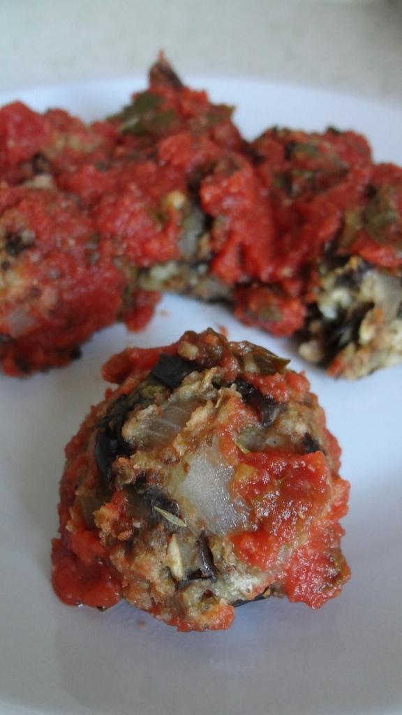 "Eggplant ""meatballs""!"