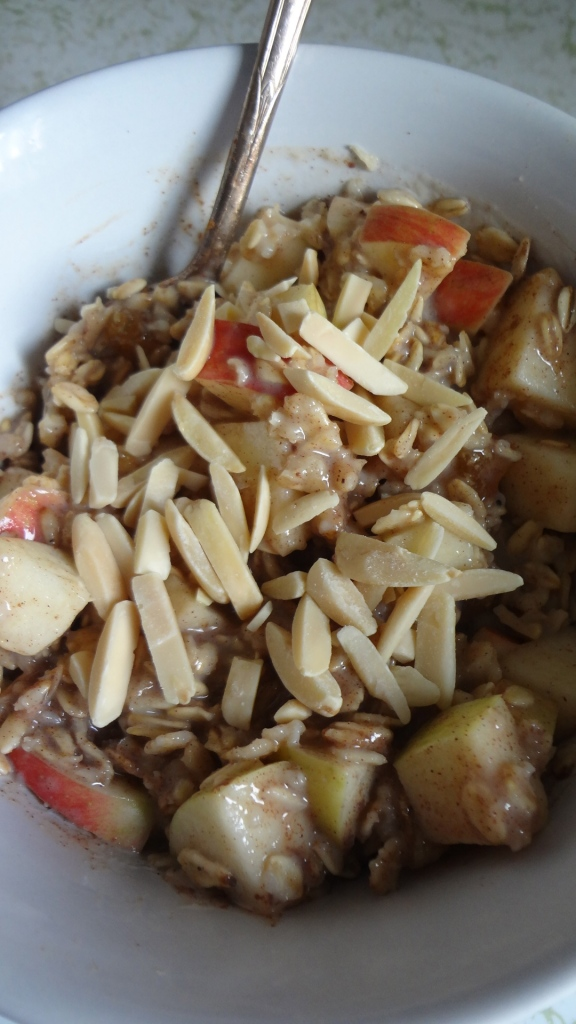 Apple Pie Oatmeal - fast and healthy! From www.theculinarycapers.com
