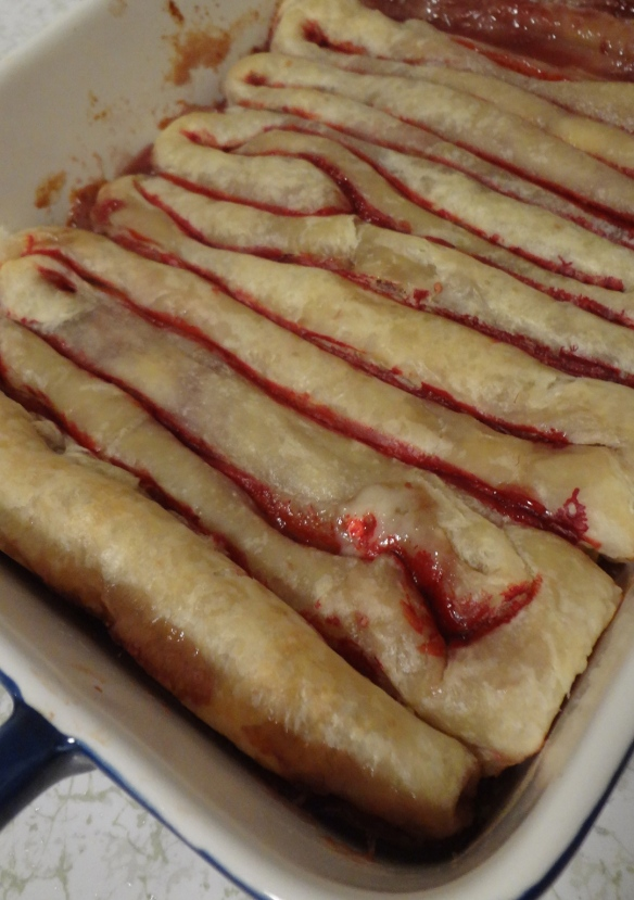 Puff pastry intestines! #Halloween #creepy