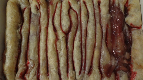 Puff Pastry Intestines - so creepy for #Halloween!