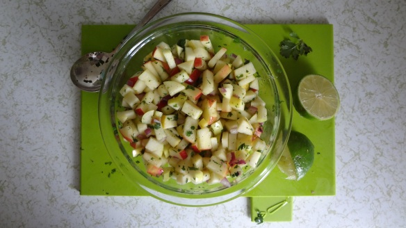 Easy apple salsa