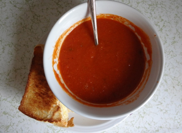 Tomato Soup + Grilled Cheese = Heaven!