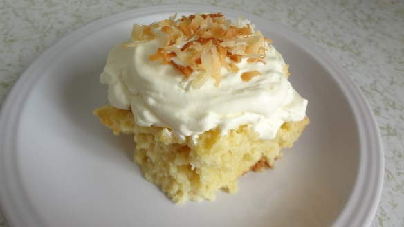 Coconut Tres Leches Cake with Lemon Cream - Easter Dessert?