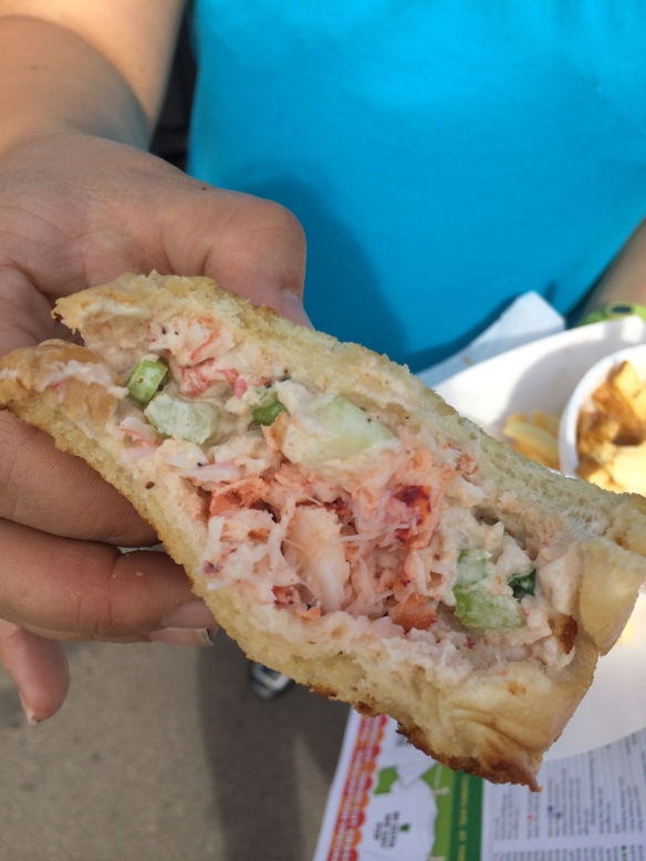 Caribbean-style lobster roll - MN State Fair 2014